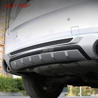 car styling For Mazda CX 5 CX5 2017 2018 Front+ Rear Bumper Diffuser Bumpers Lip Protector Guard skid plate ABS Chrome finish