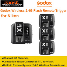 Godox X1N TTL 2.4 G Wireless Transmitter + 3 x Receiver Kit For Nikon D800 D3X D3 D2X D2H D1H D1X D700 D300 D200 D100
