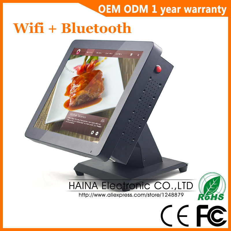 15 дюймов металлический сенсорный экран POS система для ресторана Настольный настенный сенсорный экран монитор-in ЖК-мониторы from Компьютер и офис