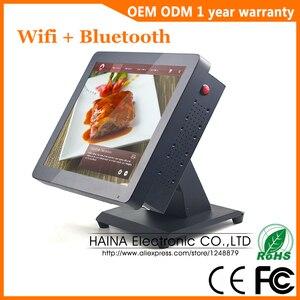 Image 1 - 15 אינץ מתכת מגע מסך קופה מערכת למסעדה שולחן העבודה קיר תליית מגע מסך צג