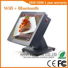 Sistema da posição da tela de toque do metal de 15 polegadas para o monitor de suspensão da tela de toque da parede do desktop do restaurante