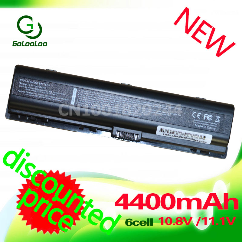 Golooloo 4400mah 11.1v 6cells laptop Battery 4400mAh for HP Presario V3000 V6000 F500 A900 C700 F700 for COMPAQ DV6000 G7000 аккумулятор для ноутбука tempo dv2000 10 8v 4400mah для pavilion dv2000 dv6000 g7000 presario v3000 v6000