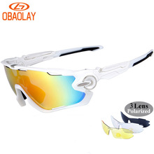OBAOLAY Brand Radar Polarized Sports Men Sunglasses Road Cycling Glasses Mountain Bike Bicycle Riding Protection Goggles Eyewear