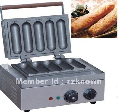 5 piece electric Muffin hot dog machine/  French Muffin hot dog machine/ hot dog machine with best quality