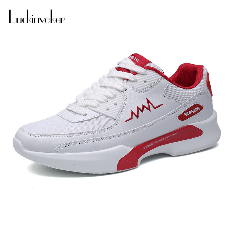 Men Running Shoes White Breathable Air Cushion Sport Shoes For Men Sneakers Breathable Light Athletic Outdoor Shoes Trainers high quality original kids sneaker skid proof cushion running shoes athletic breathable children sport shoes xrkb001