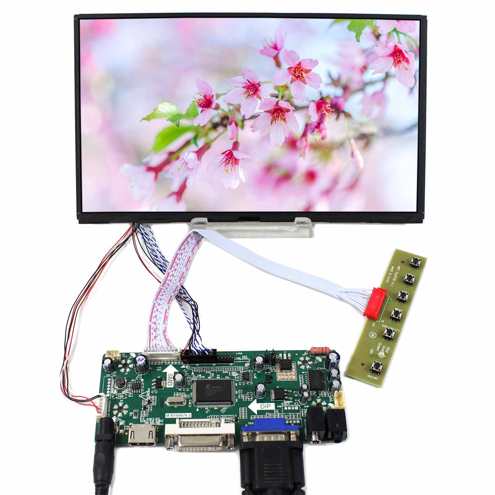 HDMI DVI VGA LCD Controller Board 10.1inch B101XAN01 1366x768 IPS LCD Screen vga hdmi lcd edp controller board led diy kit for lp116wh6 spa1 lp116wh6 spa2 11 6 inch edp 30 pins 1lane 1366x768 wled ips tft