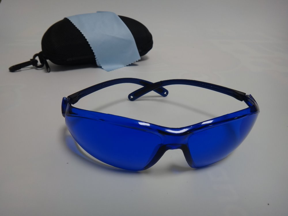 Ipl Protective Glasses With Case And Clean Cloth