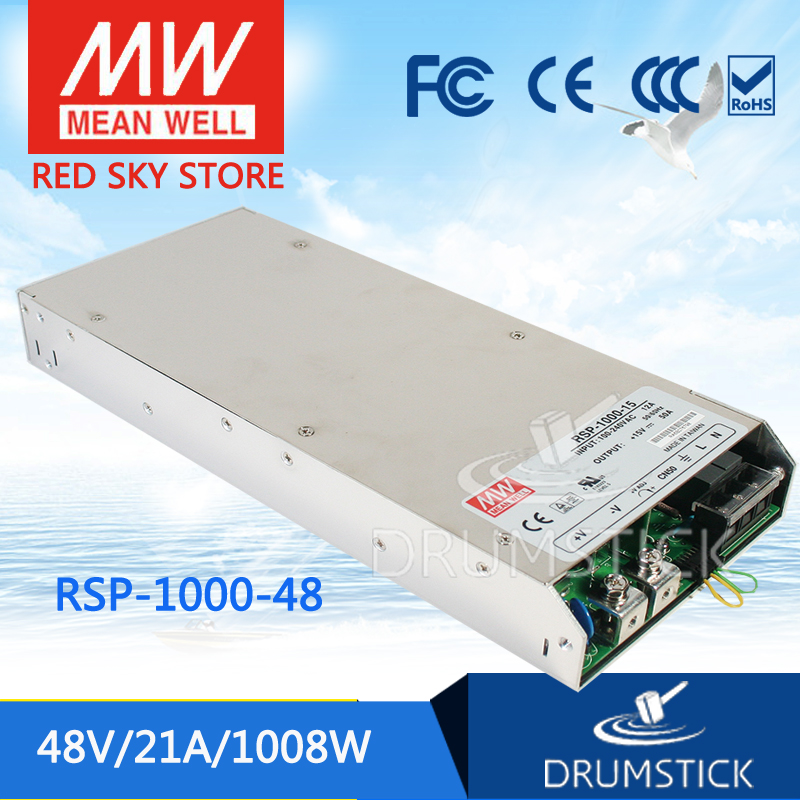 (12.12)MEAN WELL original RSP-1000-48 48V 21A meanwell RSP-1000 48V 1008W Single Output Power Supply selling hot mean well rsp 1500 5 5v 240a meanwell rsp 1500 5v 1200w single output power supply