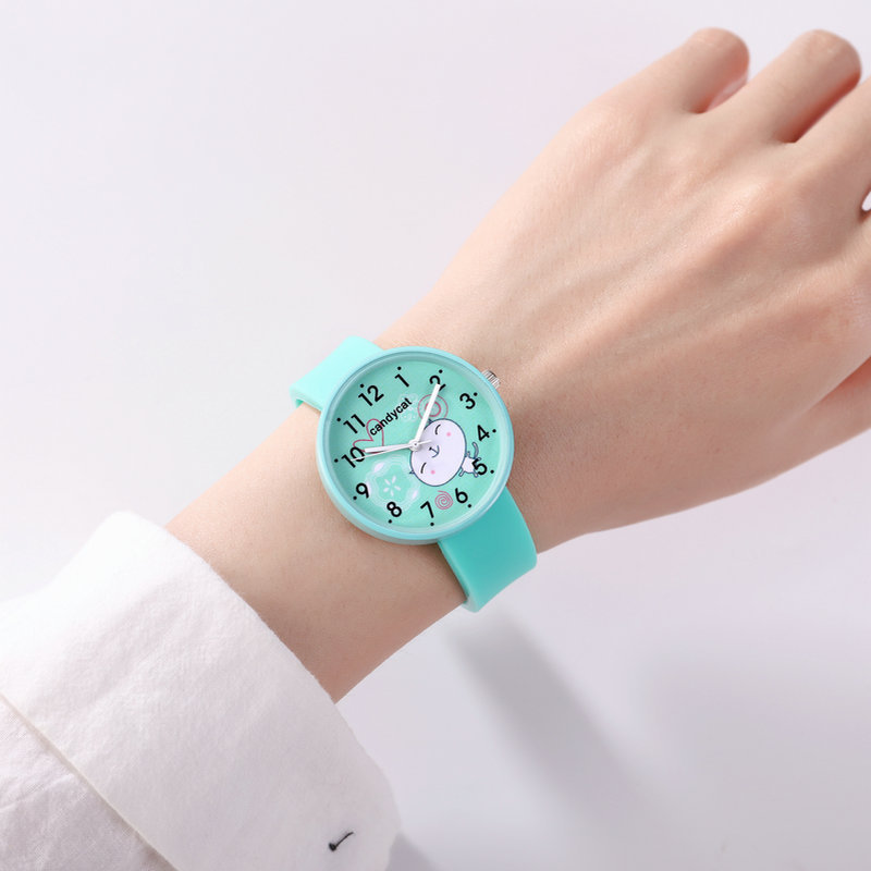 Soft Silicone Woman Watch Children Life Waterproof Student Clcok Cartoon Smiley Face Cute Jelly Kids Watches For Boys Girls Gift