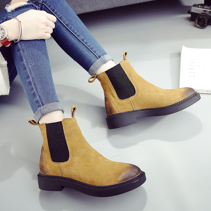 SWYIVY Chelsea Boots Fur Warm Winter Snow Boots 2018 Female Velvet Casual Shoes Solid Color Genuine Leather Suede Short Boots наклейки three comrades 2015
