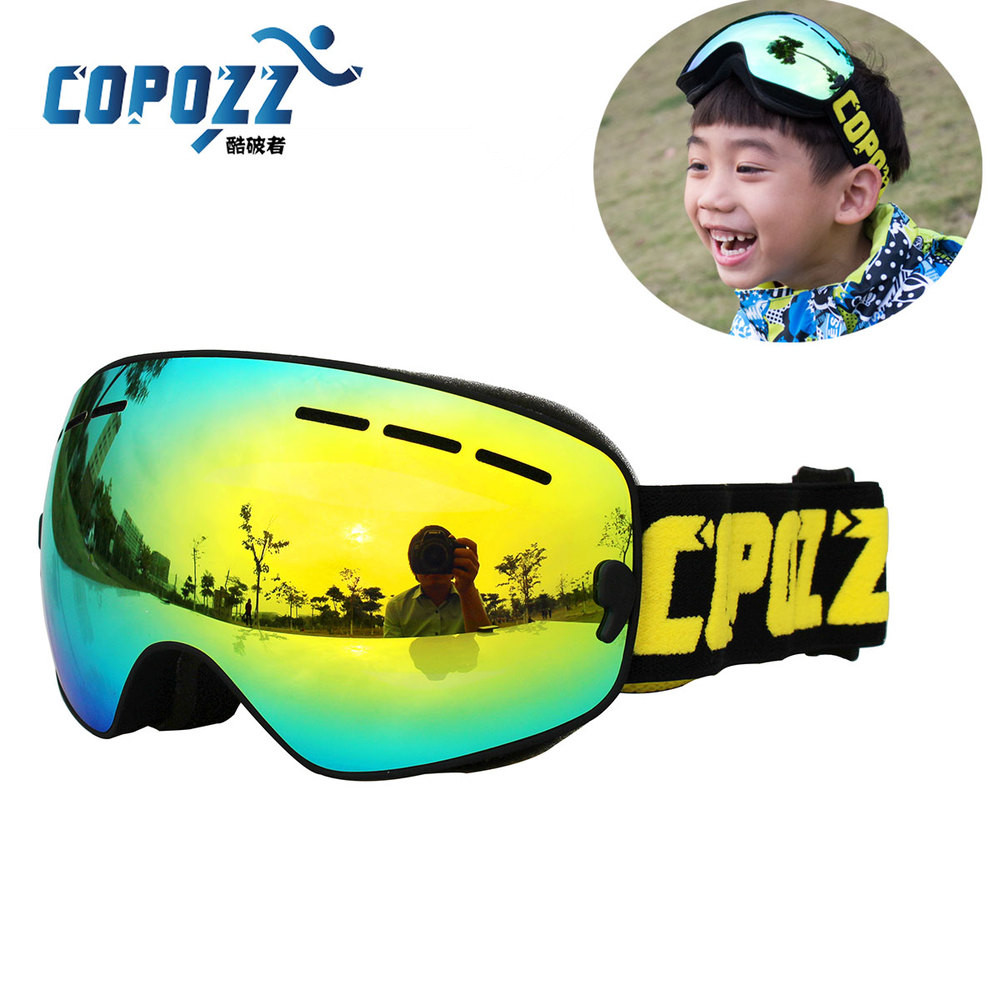 Prix pour Enfants Ski Lunettes Double UV400 Anti-brouillard Masque Lunettes Ski Filles Garçons Enfants Snowboard Lunettes COPOZZ Marque
