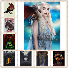 5D DIY diamond embroidery diamond painting Game of Thrones Cross Stitch full drill Rhinestone mosaic home decor gift NEW1402