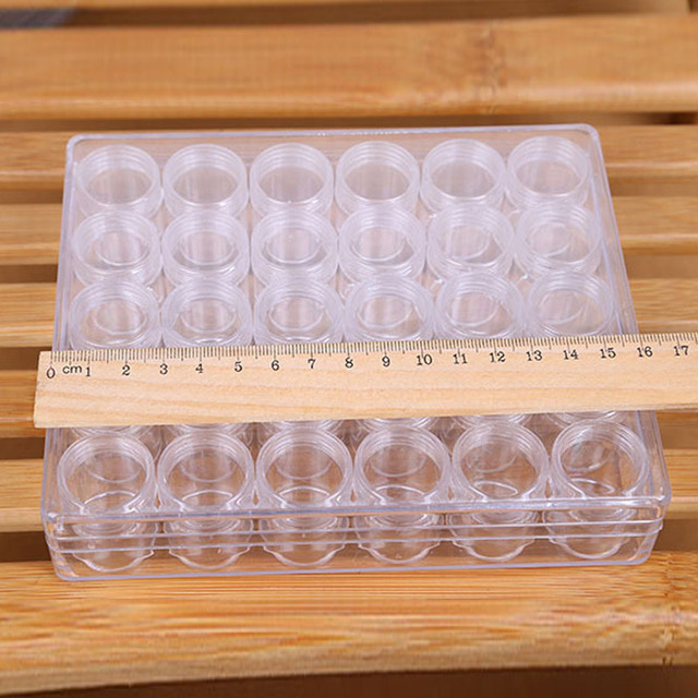 New Hot 30 Grids Refillable Bottles Storage Box For Diamond Painting Accessories Cross Stitch Tools Diamond Embroidery