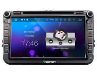 8 Quad Core Android 7.1 OS Car DVD for Volkswagen Tiguan 2007 2015 & Magotan 2006 2012 & Touran 2003 2013 with 2GB RAM 16GB ROM
