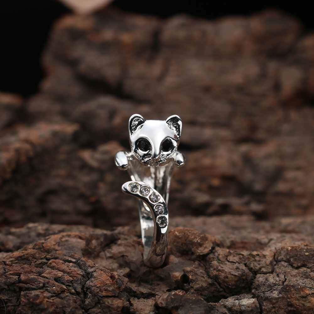 Free Size Cute Rhinestone Cat Rings Kitty Kitten Clear Tail Funny Wedding  Rings For Women Anels Ccin Rings From Jewelry & Accessories On  Aliexpress