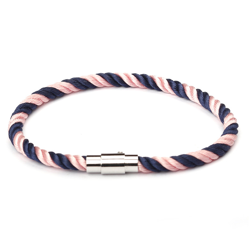 MKENDN New Fashion Rope Leather Bracelet Men Women Stainless Steel Magnetic Clasp Male Bracelets Bangles Jewelry Summer Style