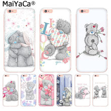 MaiYaCa Nette Teddy Mir, Sie Tragen Luxus Mode Telefon Fall für iphone 11 pro 8 7 66S Plus X 10 5S SE XR XS XS MAX(China)