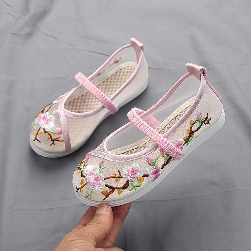 ילדי נעלי ילדה ילדים בד נעלי עממי מותאם אישית נעלי ריקוד סיני סגנון רשת לנשימה נעלי אופנה רטרו