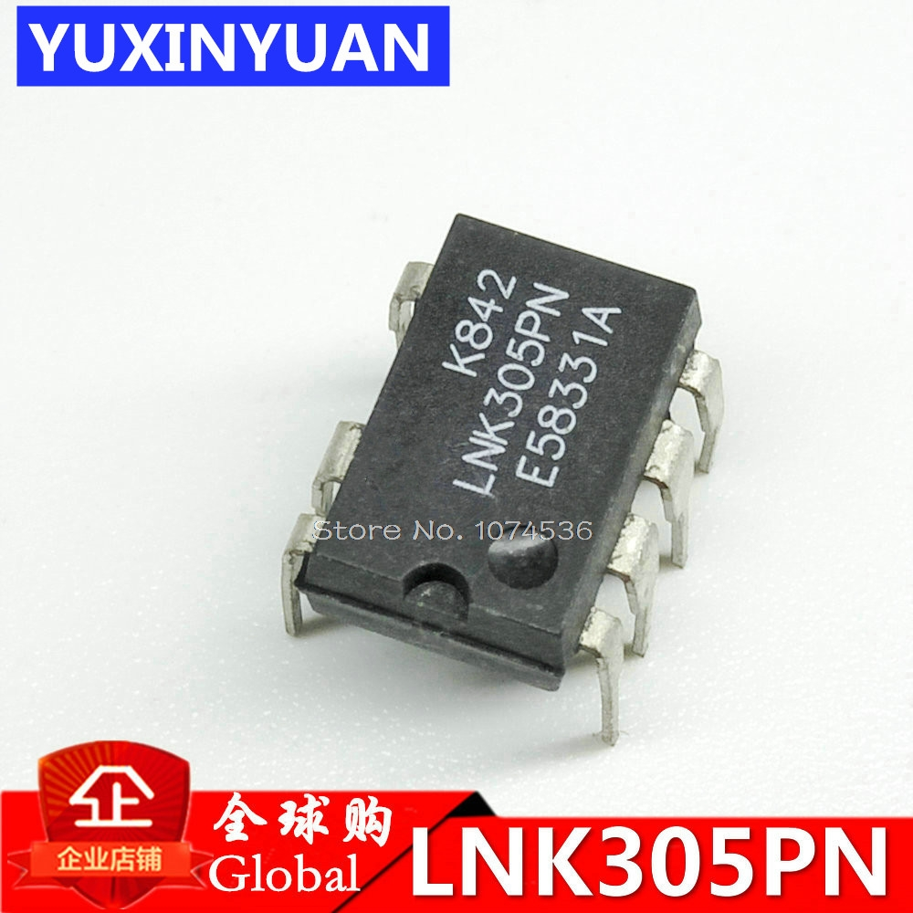 10PCS/lot LNK305PN LNK305P LNK305 LCD supply chip into 7feet Lowest Component Count, Energy Efficient Off-Line Switcher IC