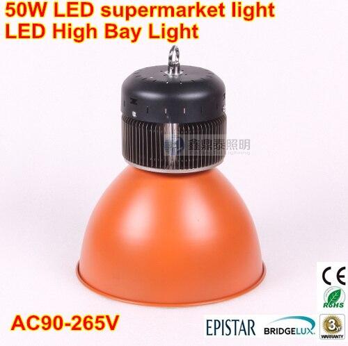50 Вт ПРИВЕЛО Подвесной Светильник Супермаркет Suspendant освещения Лампы Залив Высокий Промышленный СВЕТОДИОДНЫЕ Лампы AC90-260V 3 года гарантии