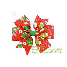 200 шт. красный и зеленый Рождество дерево pinwh и Прихватки для мангала зажим для волос