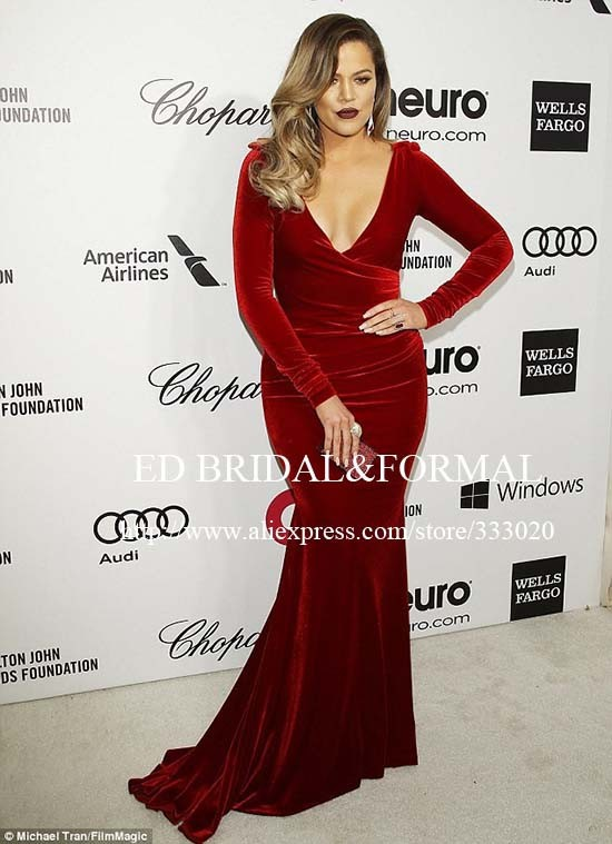 159.99 khloe-kardashian-burgundy-dress-2014-elton-john-oscar-party-01 (5)