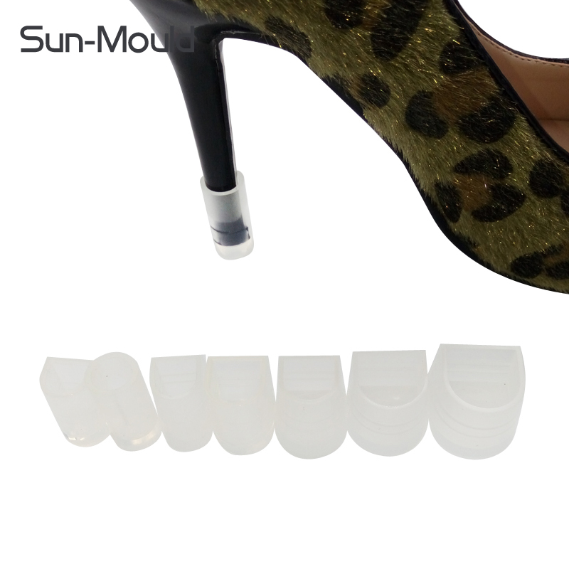 ᗐNueva 7 diferente tamaño tacón alto stiletto protectores, Latino ...