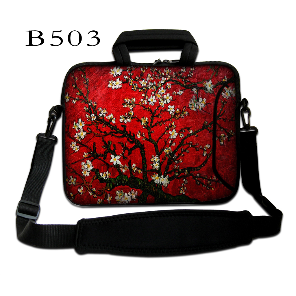 Red Van Gogh Prunus 10 12 13.3 14.4 15.6 17 Inch Laptop Shoulder Bag Notebook PC Case Pouch Cover For Macbook Air Pro Dell Asus