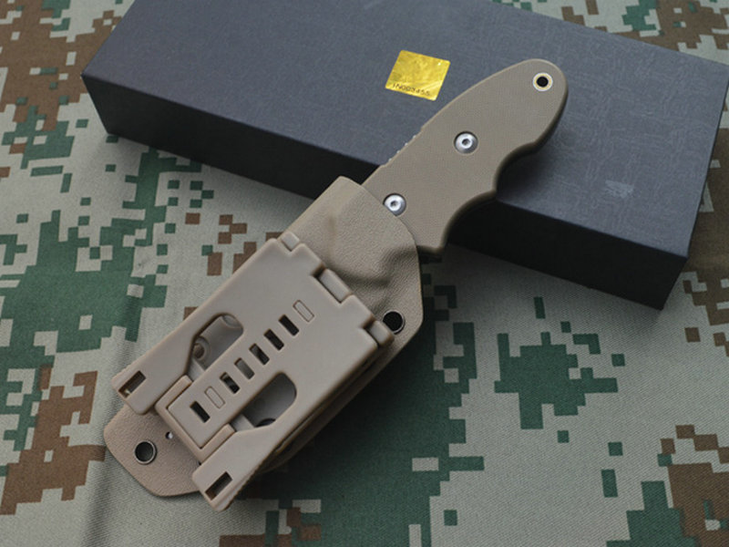 TRSKT INFINER KAT Pocket Vaste Mes Camping Tool Survival Outdoor Messen DC53 Staal G10 Handvat Met Kydex Schede Freeship - 5
