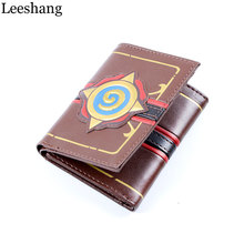 Leeshang Leather Heroes of Warcraft Hearthstone Wallet for Men and Women Three Fold Game Wallets(China)