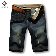 2016 Men Shorts Brand Summer New Men Jeans Shorts Plus Size 40 Fashion Designers Shorts Cotton Jeans Men's Slim Jeans Shorts Men
