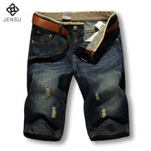 2017 Men Shorts Brand Summer New Men Jeans Shorts Plus Size 40 Fashion Designers Shorts Cotton Jeans Men's Slim Jeans Shorts Men