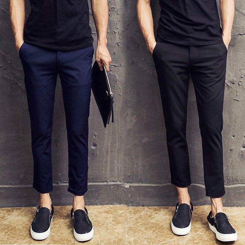 2018 summer silk dress pants for men men's suit pants big male dress trousers formal Slim Fit Business Office