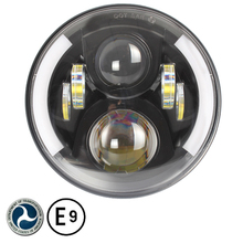 2 X 80W 7 Inch 9600 led  light  Hi/Low Beam XT-E LED Driving work light With Ring Angel Eyes DRL For car driving light