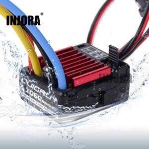 Image 1 - Zdalnie sterowany model samochodu QUICRUN 1060 60A wodoodporna szczotkowana prędkość esc kontroler z 6 V/3A BEC dla 1:10 części do zdalnie sterowanego samochodu