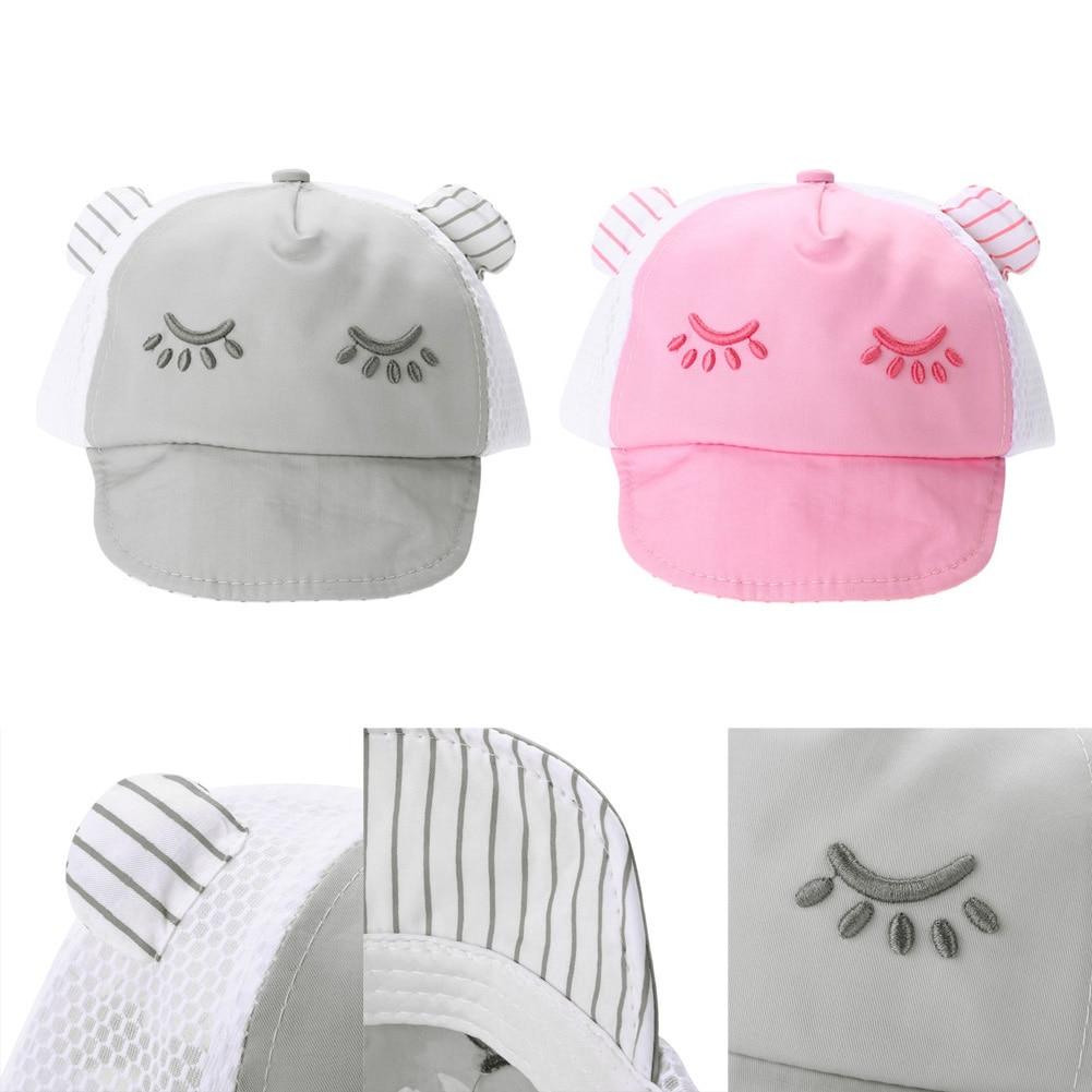 Super lindo Cartoon gato sombrero niños gorra de béisbol Palma ...