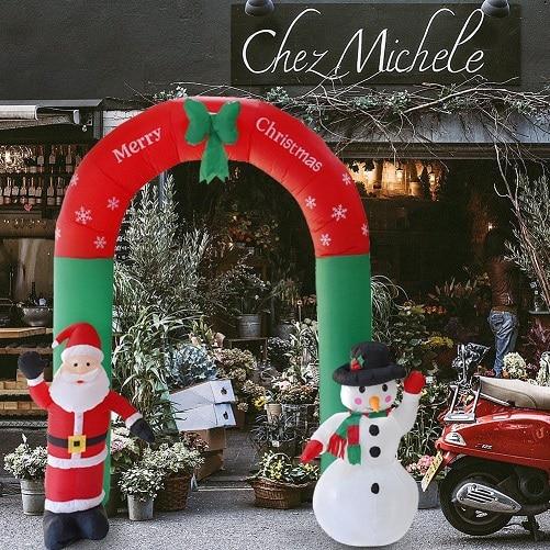 Arc gonflable père noël bonhomme de neige noël extérieur ornements noël nouvel an fête maison boutique Yard jardin décoration