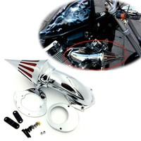 Aftermarket free shipping motorcycle parts Air Cleaner Kits intake filter for Yamaha Vstar V Star 650 all year 1986 2012 CHROME