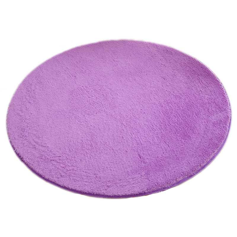 Marvelous SDFC Hot Sale Home Yoga Mat Purple 120x120cm Quality Floor Mats Modern  Shaggy Round Rugs And