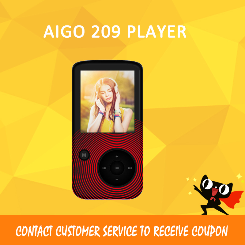 Aigo 209 Bluetooth 4.0 Portable HD Lossless MP3 Player Multifunction Audio Movement Sport Music TF card 32GB aigo золотой 32gb