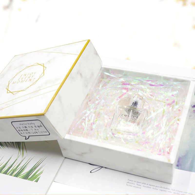 200 グラムプラスチックギフトボックスボックスフィラーシュレッダー紙吹雪カラフルなシャイニングボックス充填材料キャンディー包装結婚式の装飾