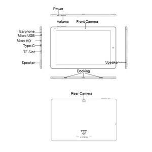 Image 5 - CHUWI Original Hi10 Air 10.1 pouces tablette Windows10 Intel Cherry Trail T3 Z8350 Quad Core 4GB RAM 64GB ROM type c 2 en 1 tablette
