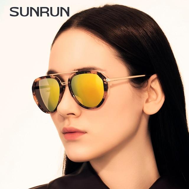 8b4090d70 SUNRUN Metal Luxury Fashion Sunglasses Women Brand Designer Glasses  multicolor Coating Mirror Sun Glasses Oculos De