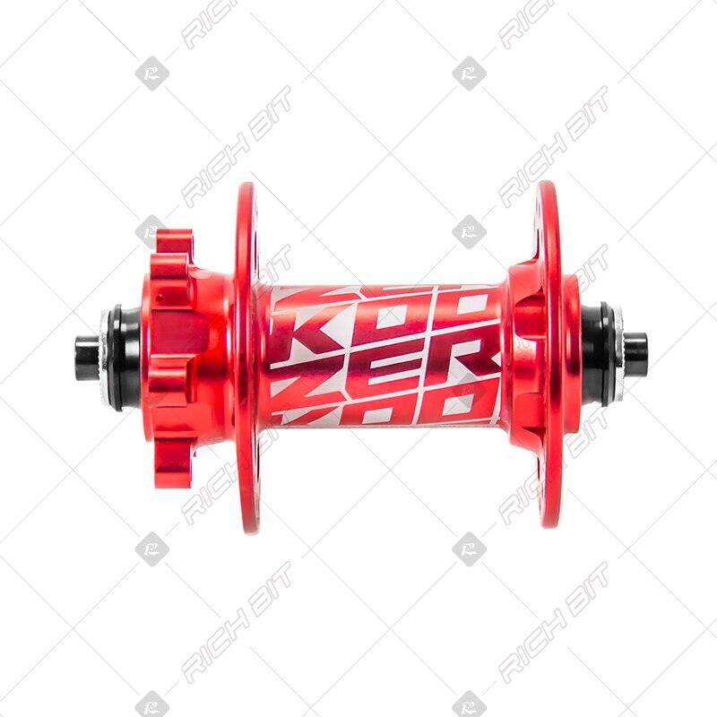 Moyeu de VTT Koozer MF480 32 trous 2 roulements moyeu avant de disque vtt 9*100mm ou 15*100mm moyeu avant de vélo