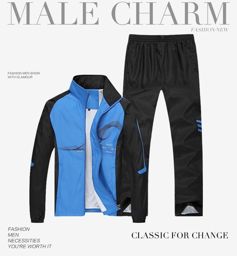 Kaheosaline sportlik komplekt meestele