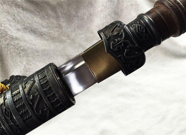 Carbon Steel Qin Inspired Katana 4