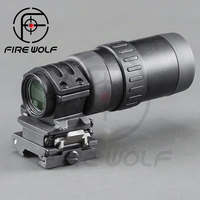 FIRE WOLF B Tactical 1.5 5 Zoom Optics Magnifier With Flip To Side Mount For Riser Scope Hunting Red Dot Ak 47 Riflescope
