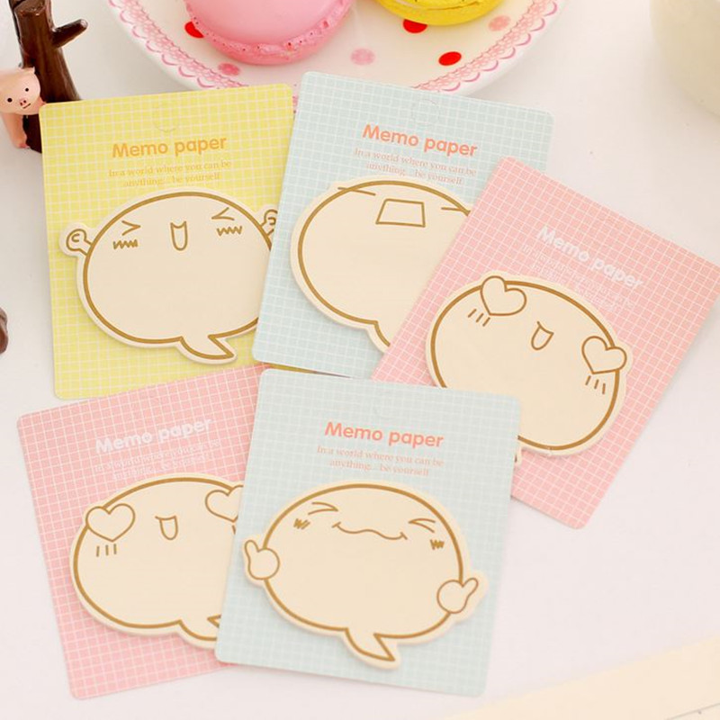 Coloffice 1PC Creative Cartoon Expression Inspirational Memo Pads Message Notes Stationery Message Sticky Note Office School