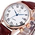 Homens ORKINA Relógios Quart-relógio de Algarismos Romanos Dial Masculino Fashion Business Relógio de Pulso Calendário Relogio masculino + CAIXA