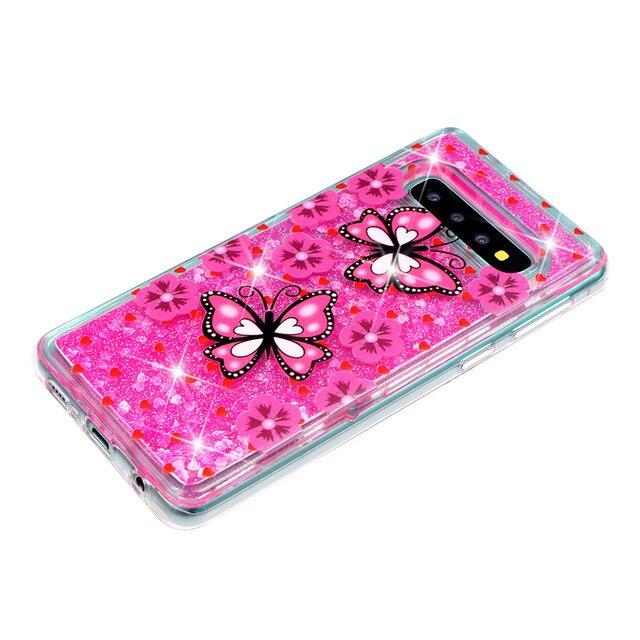 KDTONG Case sFor Samsung Galaxy S10E S10 Plus Case Glitter Liquid Soft Silicone Cover For Samsung Galaxy S10 S 10 Case Cover 4